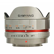 Samyang 7.5mm f/3.5 UMC Fish-eye для Micro 4/3 (MFT) серебро